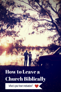How to Leave a Church Biblically